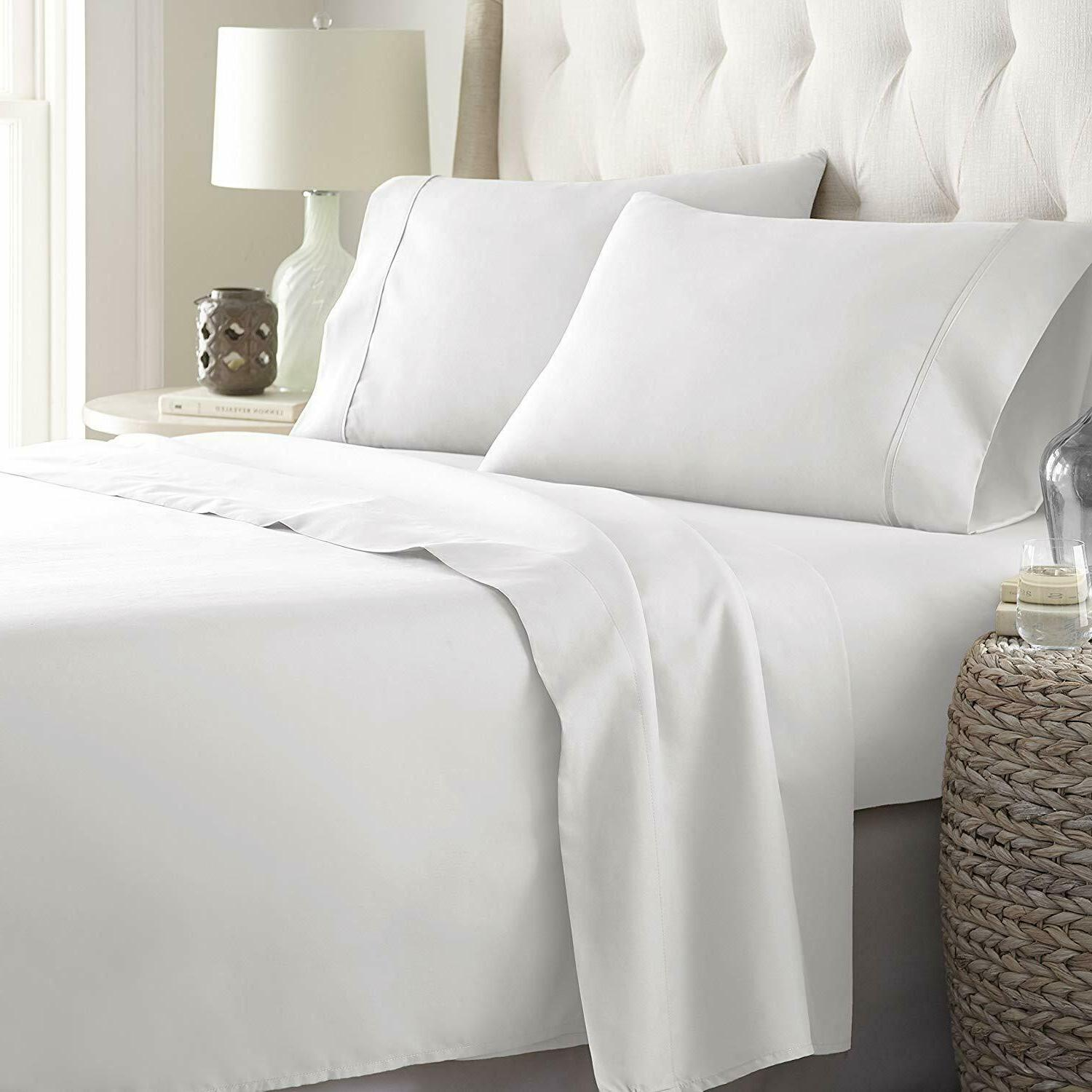 Bed Sheets Set hotel luxury 1800 count 4 piece set deep pock