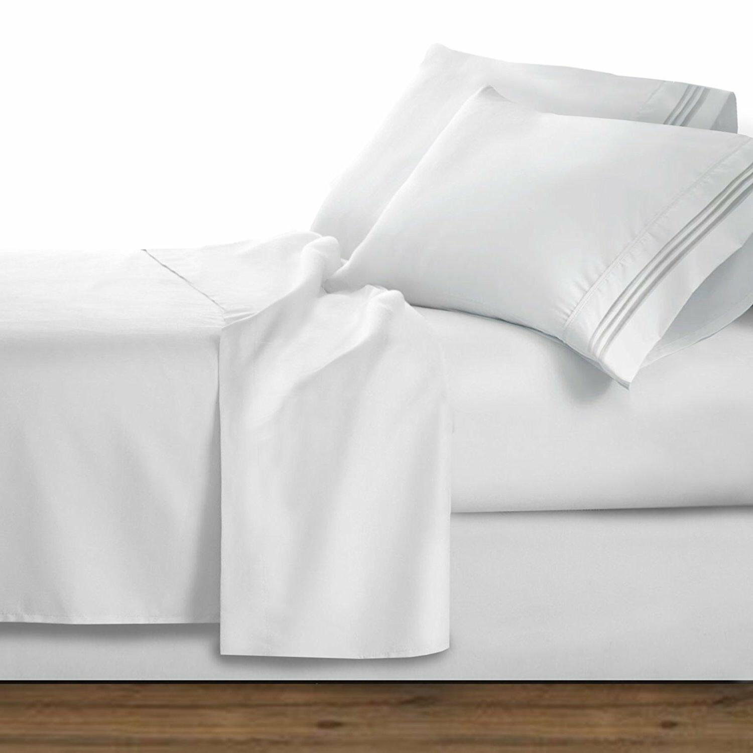 1800 Thread Count 4pc Bed Sheet Set 100% Egyptian Cotton Dee