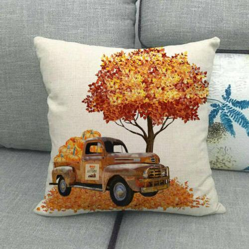 "18x18"" Harvest Car Case Truck Cushion Cover Decor"