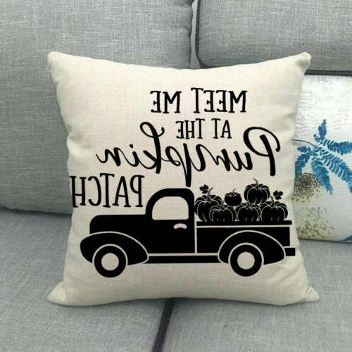"18x18"" Fall Car Throw Truck Cover Sofa Decor"