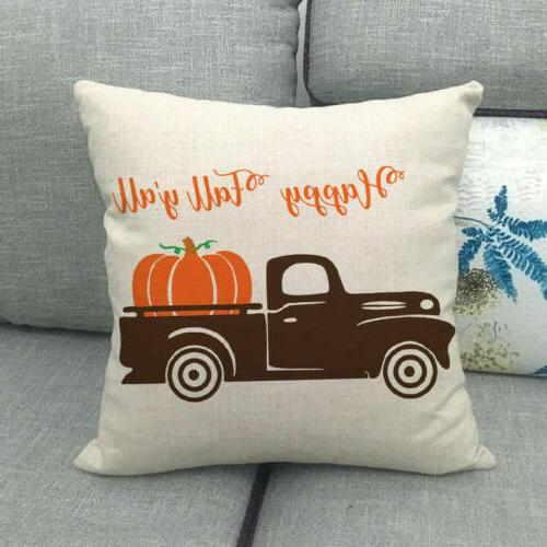 "18x18"" Fall Car Throw Pillow Truck Cushion Cover Decor"