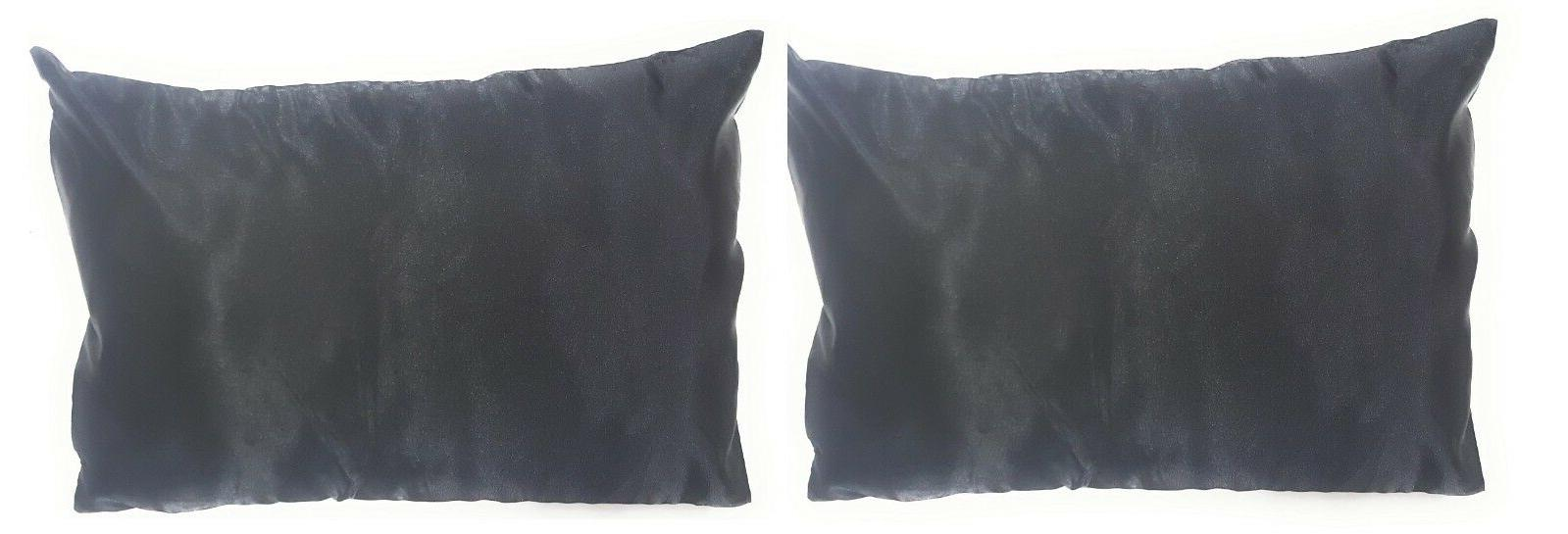 2 Pillow Pillowcases Satin, Side Zipper
