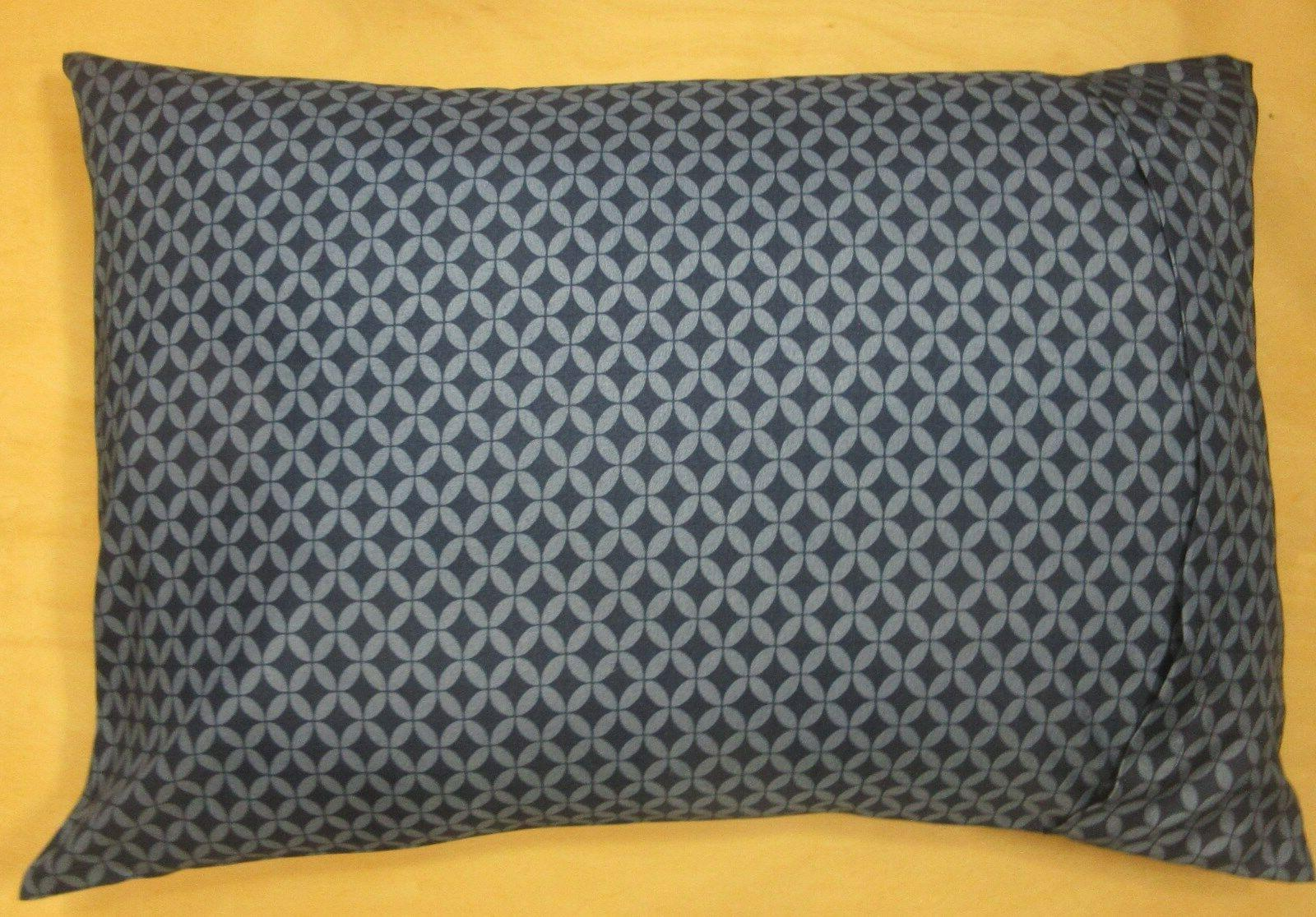 2 Travel/Toddler Case 14X20 Pillow Pillowcase Blue on Blue