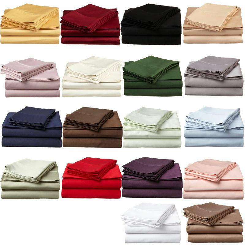 2 twin xl fitted sheets, flat sheet and king pillow cases Cotton