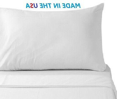 2 white premium pillow cases king size 20x40 american hotel