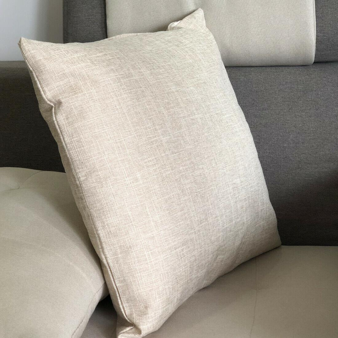 """20""""x20"""" 2 Linen Cushion Covers Solid Cover"""