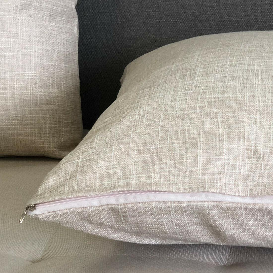 """20""""x20"""" 2 Pack Linen Pillow Cushion Covers Cover"""