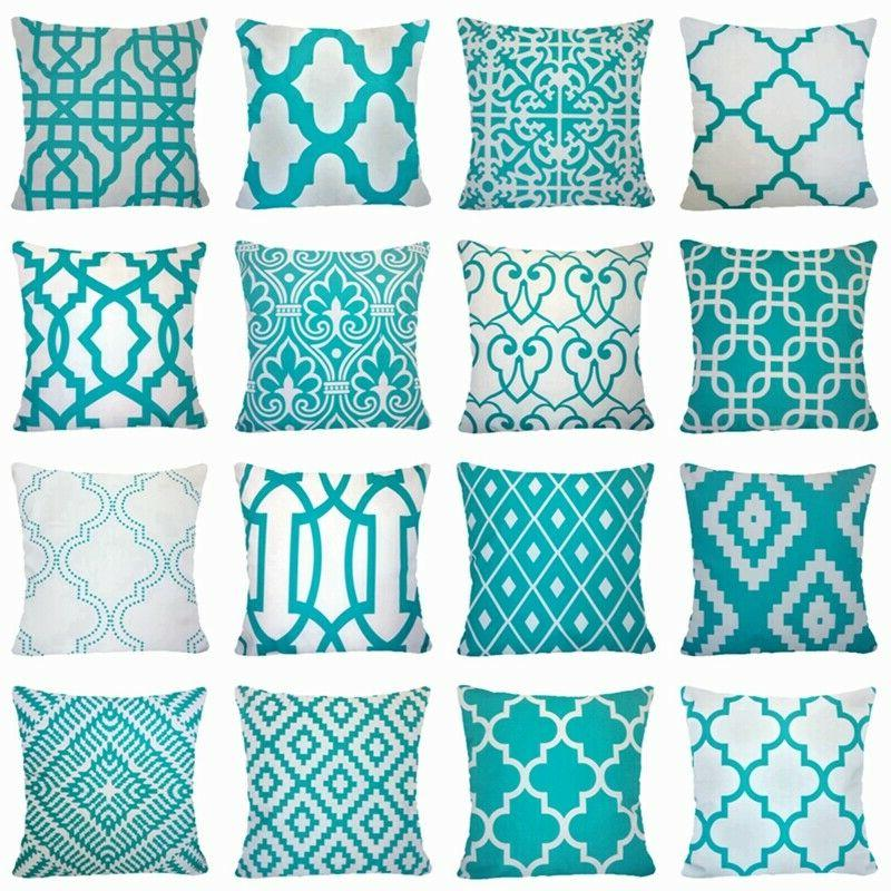 20x20 velvet turquoise blue throw pillow cover