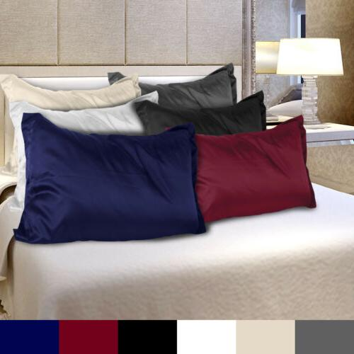 2pc Brand Size Satin Pillow Case/Cases