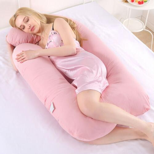 2pcs Body Pregnancy Replacement Cover Zipper Maternity Pillow