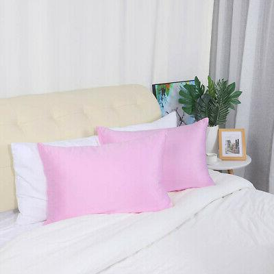 2PCS Soft Silky Satin Pillowcases Cases Covers