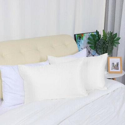2PCS Silky Satin Pillowcases 17Colors TD/STD/QUEEN/KING Cases Covers