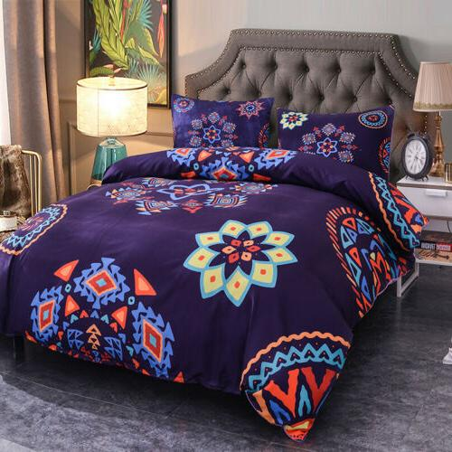 3Pcs Set Queen King Quilt Bed