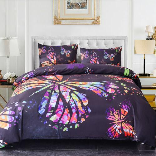 3Pcs 3D Set Quilt Bed
