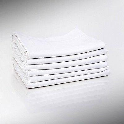 1 white pillow cases standard size 20x32 t180 percale hotel