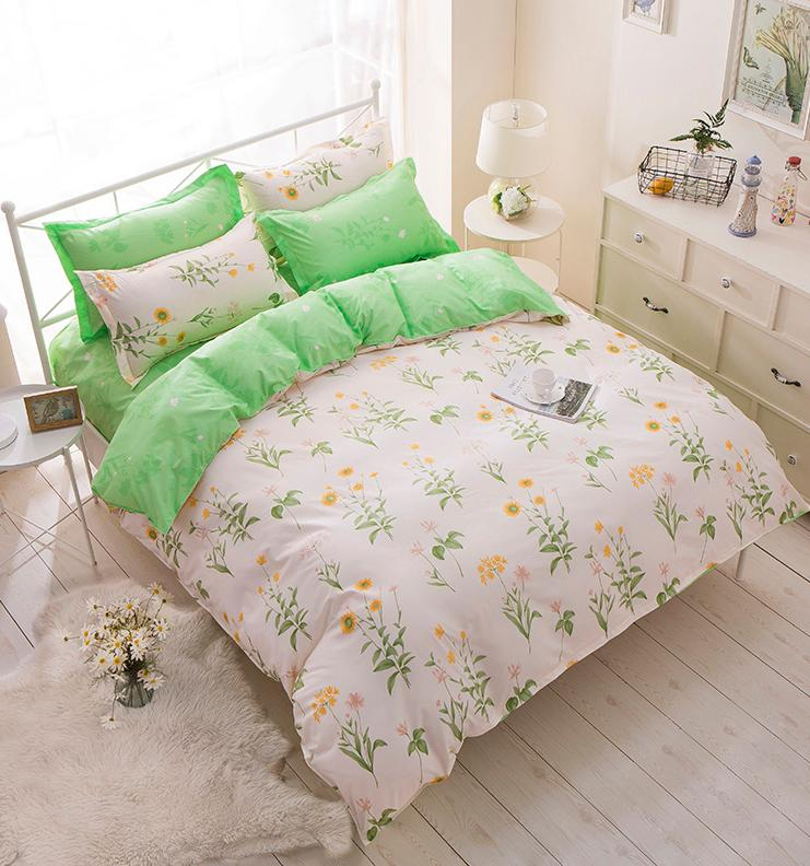 4PCS Printed Bedding Cover+Sheet+Pillow Cases Hot