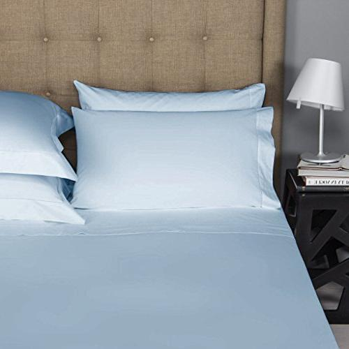 Mayfair 500 Count Egyptian 2pc of Pillow Cases, Silky Durable Standard/Queen -Light