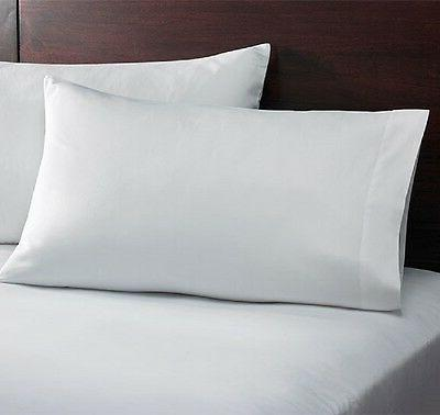 6 new bright white cotton standard linen pillow cases size 2