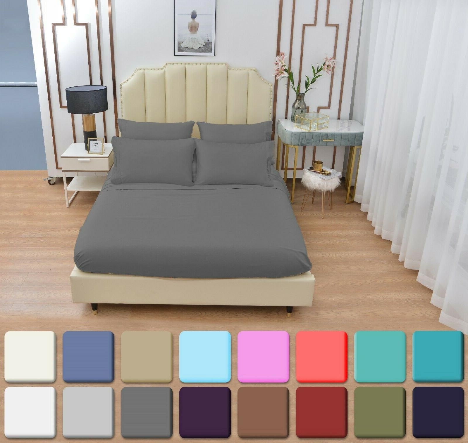 6 Pc Set Bamboo Sheets Queen Twin Size