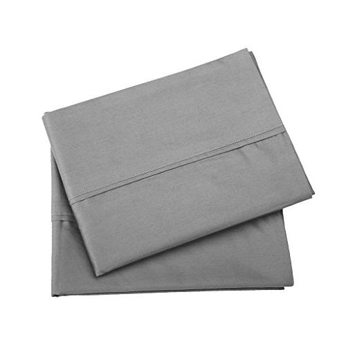 SGI Count Standard/Queen Pillowcase Size Dark Grey Solid