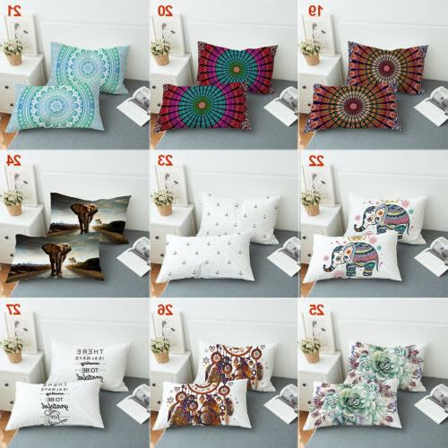 Bohemian Indian Pillowcases Covers Standard Queen