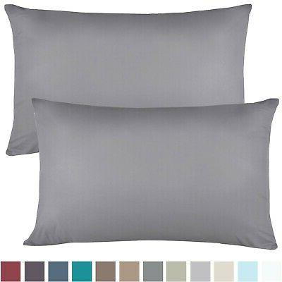 Empyrean Bedding Set of 2 Premium Microfiber Breathable Design, Soft & Comfortable Hotel Charcoal Gray