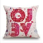 Love Pillow Cases Anniversary Bridal Shower Gift Home Decor