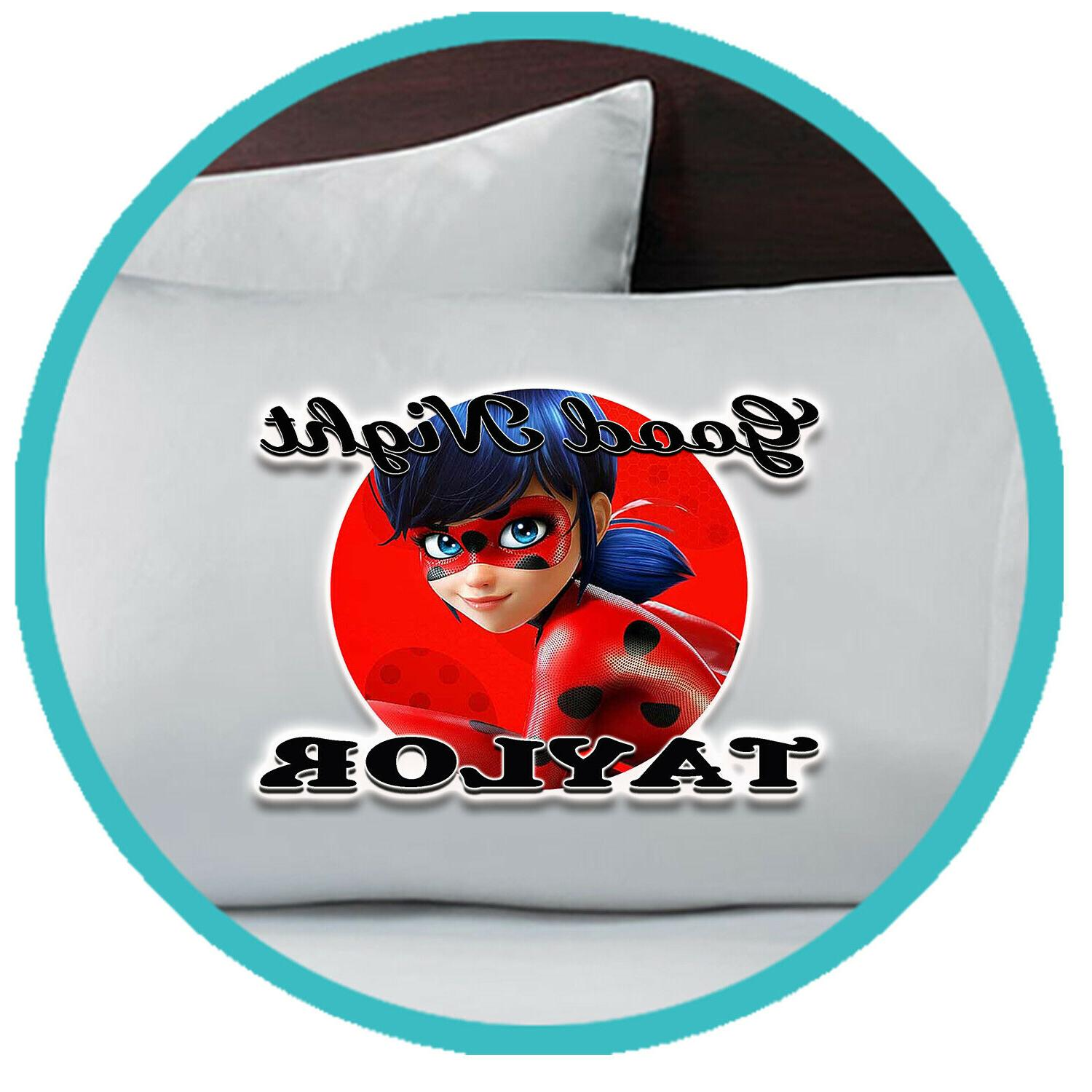 Miraculous Ladybug Pillowcase Pillow Case Personalized Bedro
