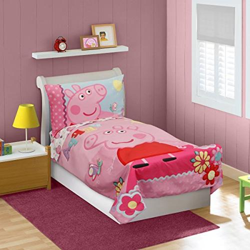 newest c7cf1 7b241 Peppa Pig Adoreable Toddler Bed Set, Pink