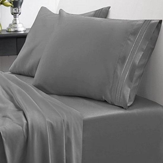 Sweet Home Collection Thread Queen Egyptian Brushed
