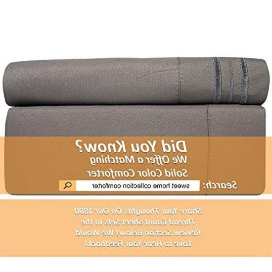 Sweet Home Collection 1800 Thread Sheets Egyptian Brushed