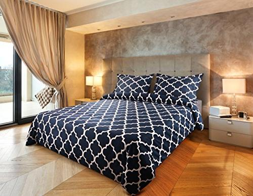 Utopia Bedding Printed Cover Set - Quality Luxurious Microfiber Soft Durable and Resistant Machine Washable