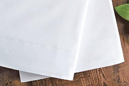 White Cotton Standard Pillowcases Set of Weight Elegant Stitched and