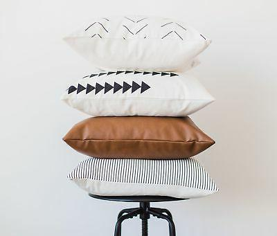 Woven Pillow COVERS Couch, Sofa, or Set 4