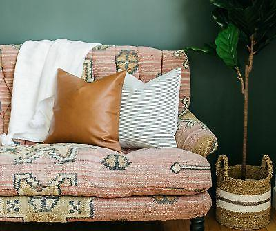 Woven Nook Decorative Throw Pillow COVERS ONLY Couch, Bed Set 4