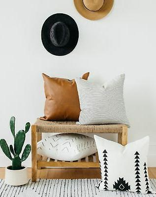 Woven Pillow COVERS ONLY Couch, Sofa,