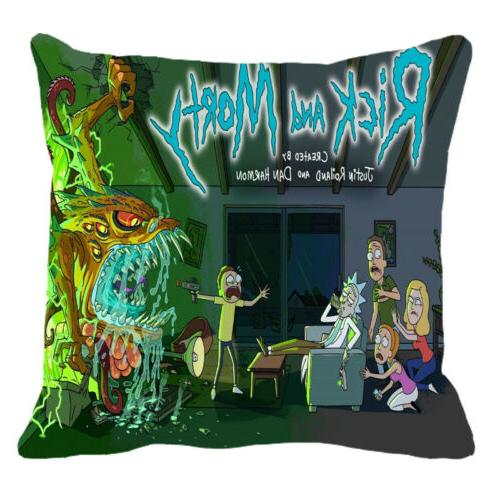 American Rick Morty Inch Pillow Cover Cover
