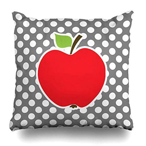 apple dark gray polka dots