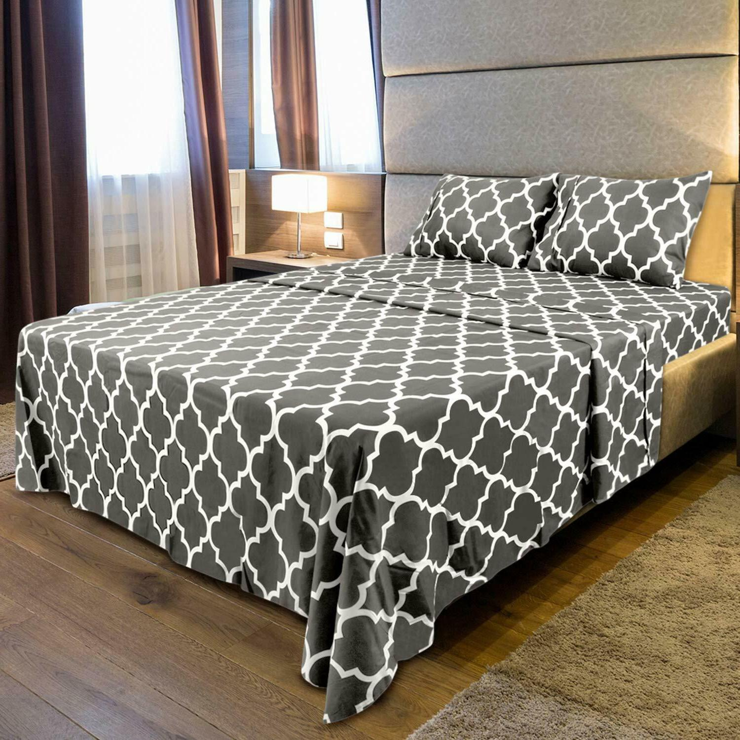 3Pc Set Fitted 1 Flat Pillowcase