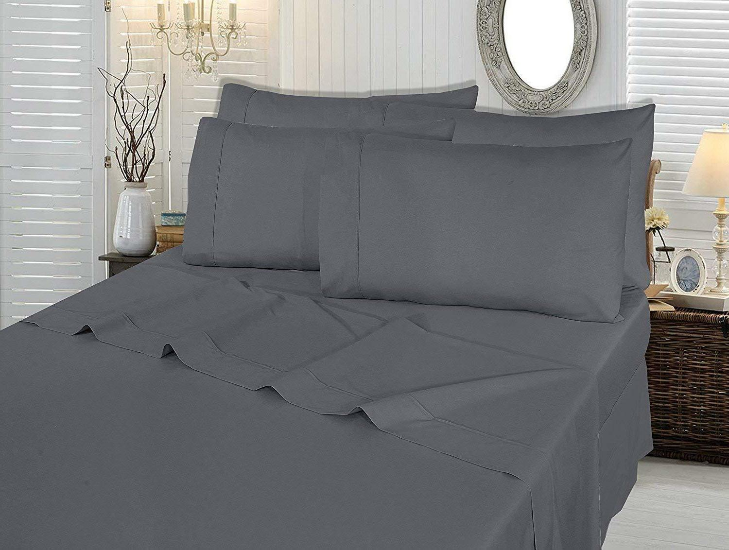Bed Sheet Set 6 Piece Cases Hypoallergenic