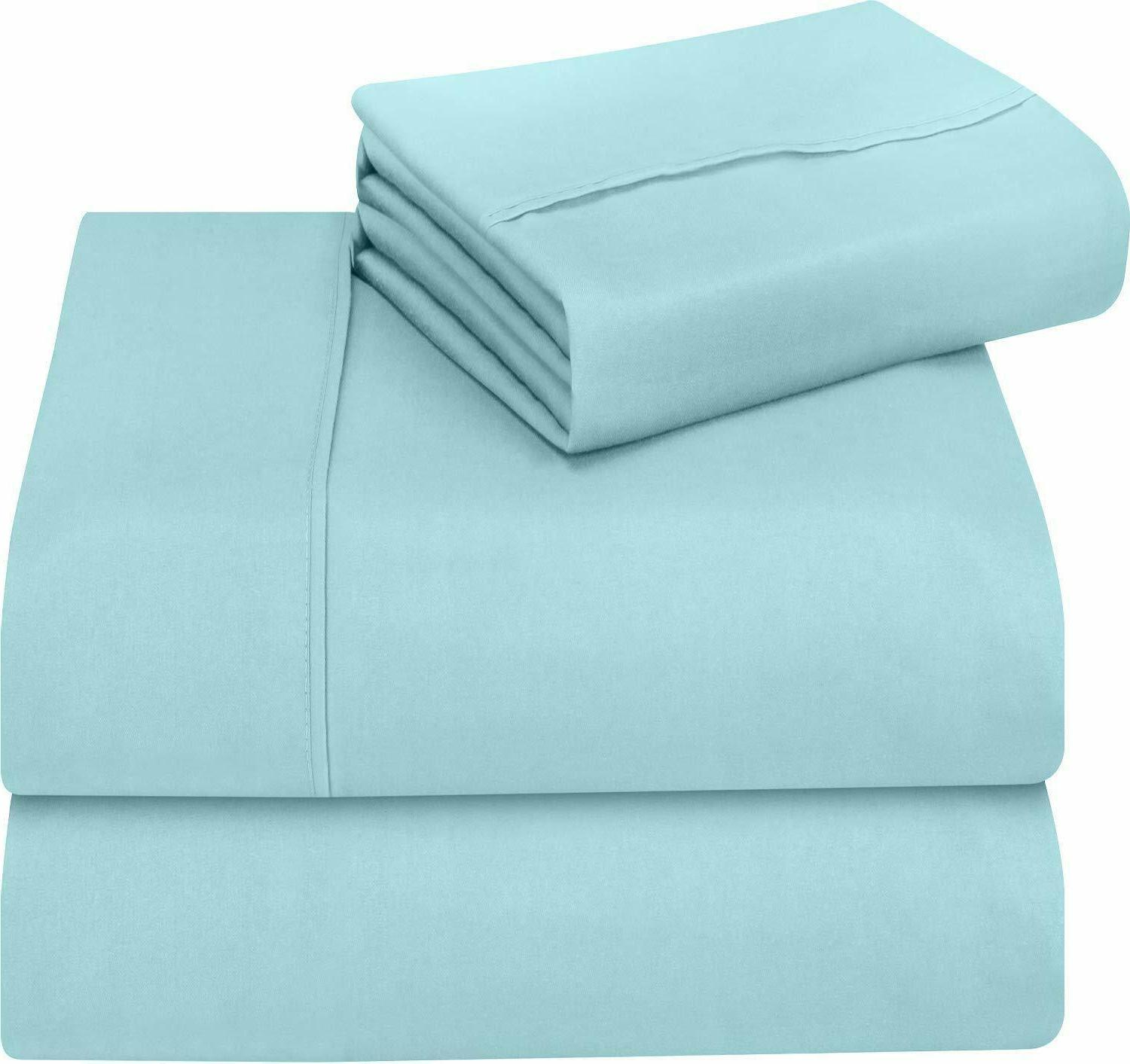Soft Piece Bed Sheet with Pillow Bedding