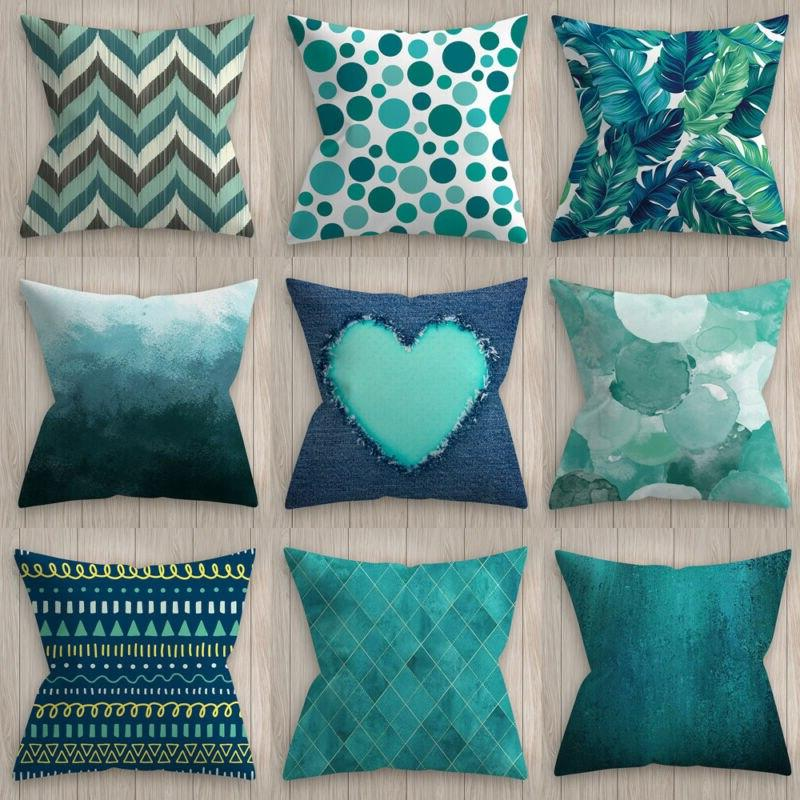 Blue Waist Geometric <font><b>Pillow</b></font> Cover Cushion