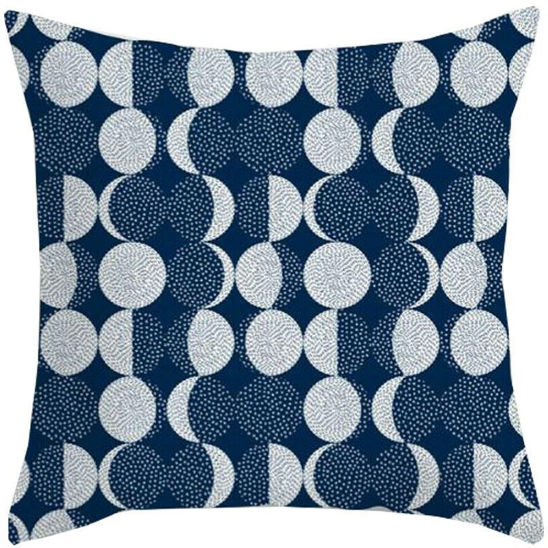 Blue Pattern Pillow Cases Sofa Waist Throw Cushion Cover Decor