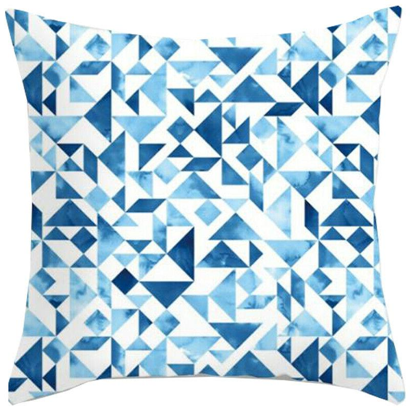 Blue Simple Pattern Cases Sofa Car Throw Decor