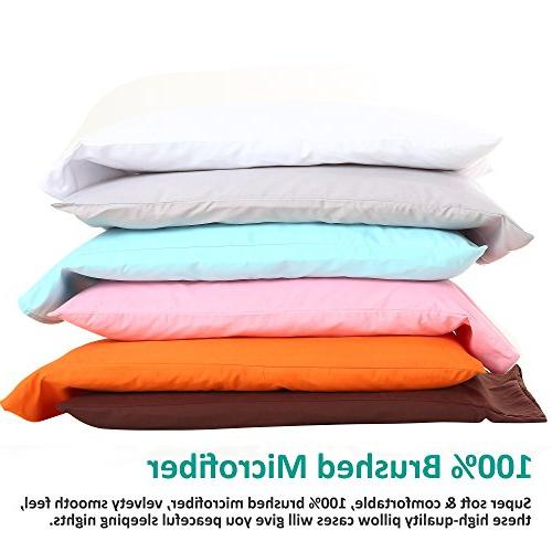 "NTBAY Pillowcases Set of 4, Soft and Fade, Resistant, 30"", White"
