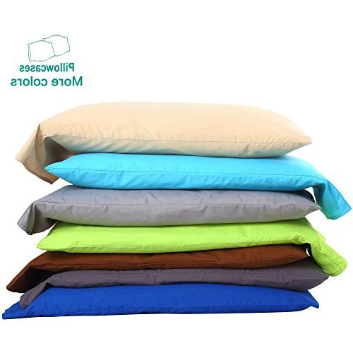 "NTBAY Pillowcases Soft Cozy, Fade, Stain Resistant, 20""x 30"","