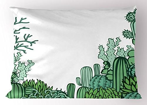 cactus decor pillow sham