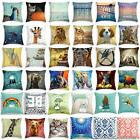 Cat Cute Dog Cotton Linen Pillow Cases Throw Pillow Cover So