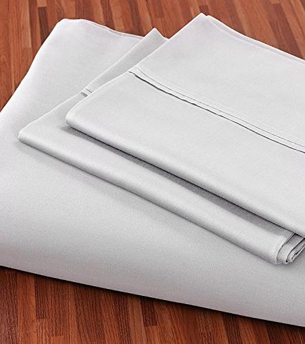 Utopia Bedding 100% Cotton - 4 Set, Flat Sheet