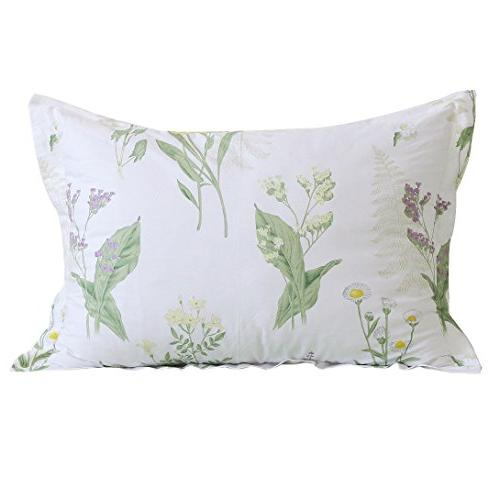 cotton decorative pillowcase floral print
